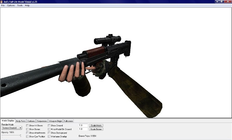 Jed's Half-Life Model Viewer 1.35